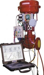 Portable diagnostic tool for control valves