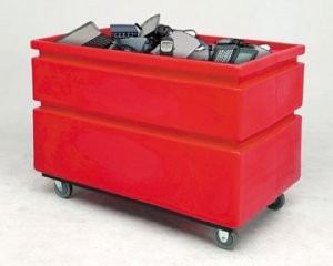 Electronics waste container