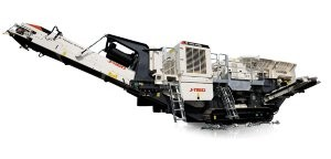 J-1160 compact, tracked mobile jaw crusher