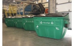100 percent plastic recycling containers