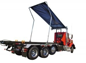 Advanced tarping system technology for roll-offs