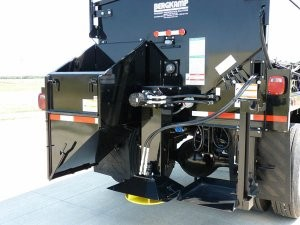 Bergkamp's FP5 Sand Spreader attachment maximizes truck utilization and disperses sand in widths up to 34 feet