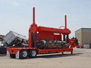 Impact V Car Crusher is a portable, one-man operation