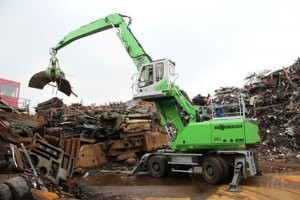 "Sennebogen launches ""Green Efficiency"" in America with E-Series material handlers"