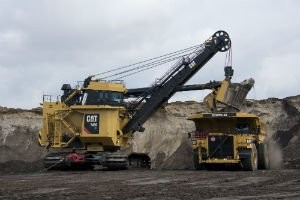 Cat® 7495 Electric Rope Shovel builds on proven design with advanced cab and optional HydraCrowd™ and LatchFree™ Dipper System