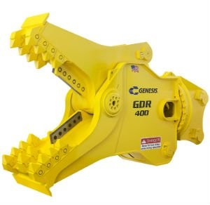 New GDR 400 from Genesis Attachments Fits 40 to 55 Ton Excavators