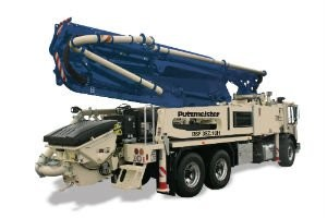 New Five-Section 38Z Truck-Mounted Concrete Boom Pump  Introduced by Putzmeister America, Inc.
