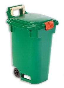 12-gallon green bin for curbside  source-separated organics collection