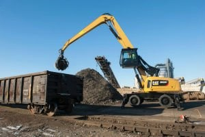 New Cat® MH3037 Wheeled Material Handler Features Advanced Power Train, Powerful and Efficient Hydraulics, and Ground Level Entry