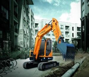Hyundai Construction Equipment's R60CR-9A Compact Radius Excavator