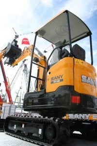 Sany Introduces Its First Compact Excavators  at CONEXPO-CON/AGG 2014