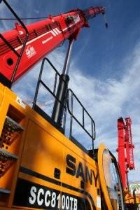 Sany SCC8100TBXL Telescopic Boom Crawler Crane Has Power, Performance and Operator Comfort