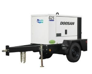 Doosan G25 mobile generator offers dependable and quiet operation