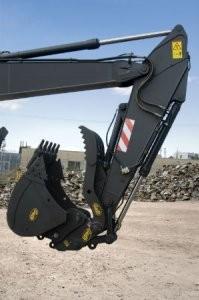 Geith progressive linkage hydraulic thumb provides greater grabbing ability
