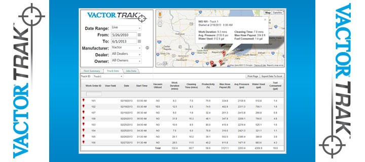 Vactor Manufacturing, Inc. - VactorTRAK Remote Information System Telematics