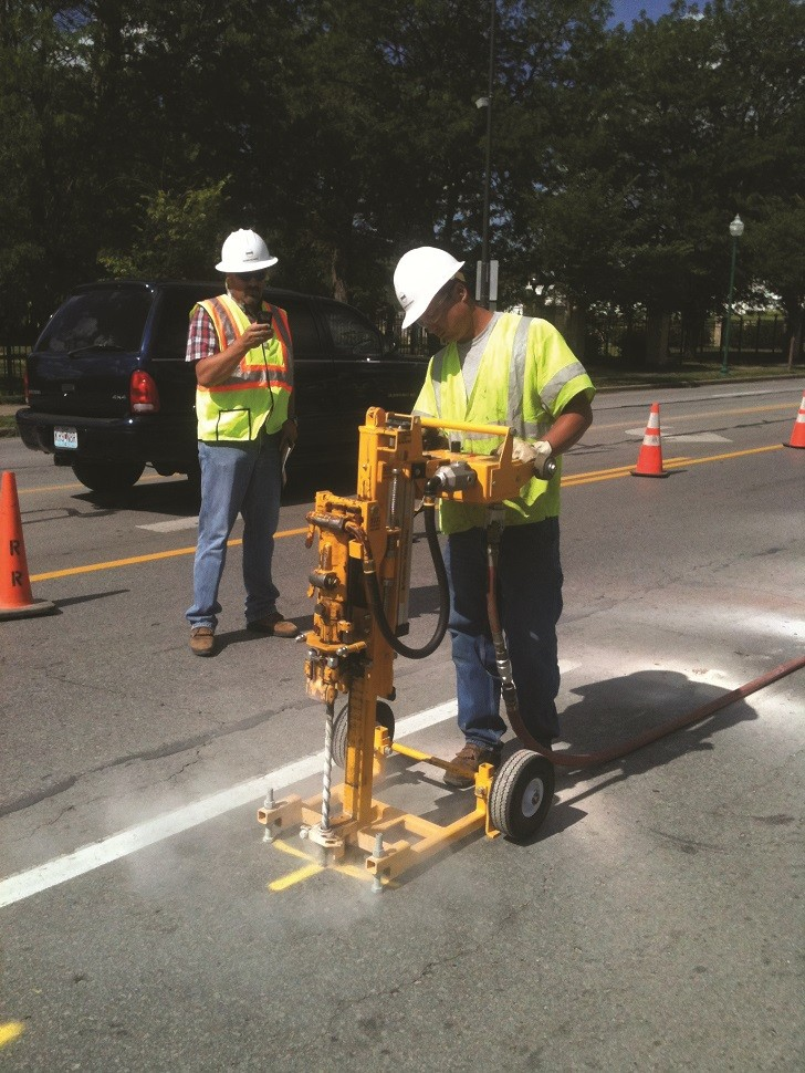 Frame-mounted drills operate up to four times faster than handheld models, so crews can pinpoint gas leaks more quickly.
