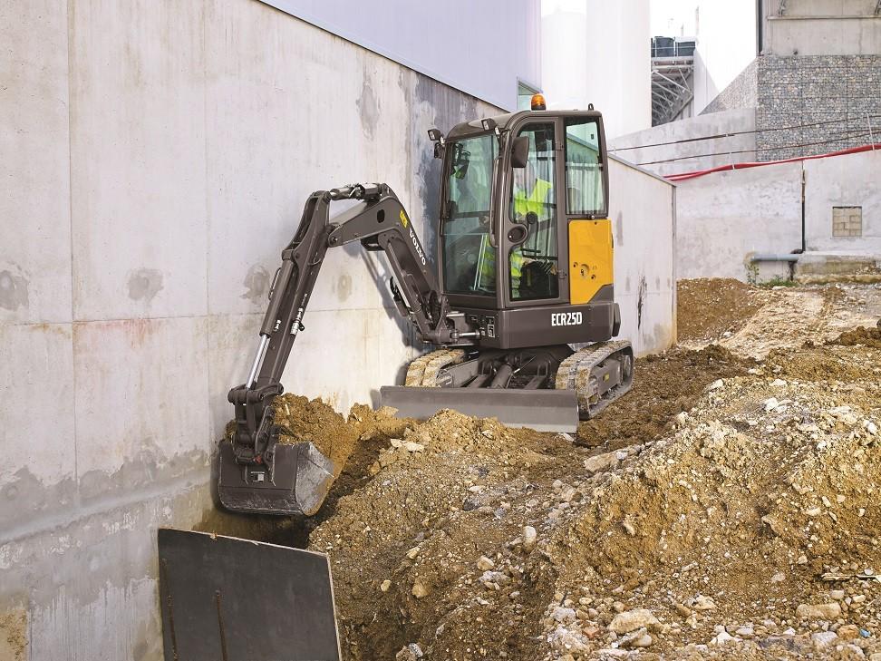 ECR25D Short Swing Radius Compact Excavator