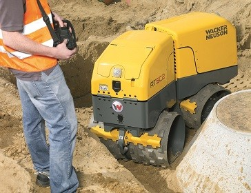 Infrared remote control system Trench Rollers