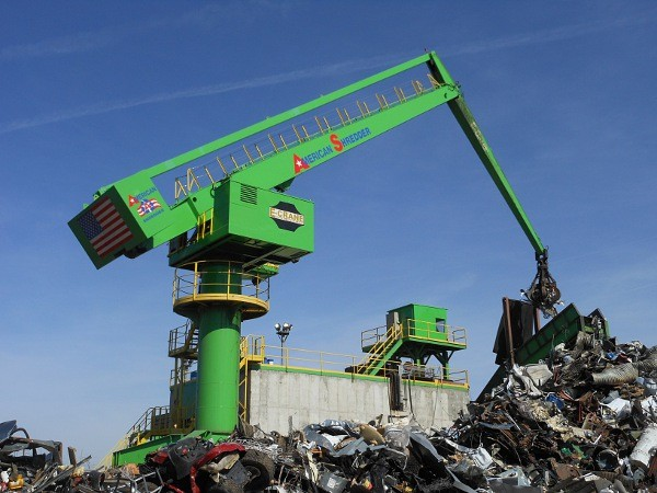 Electric-powered stationary scrap  handler trouble-free after one year