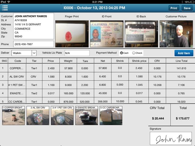 Scrap Database Purchase Program