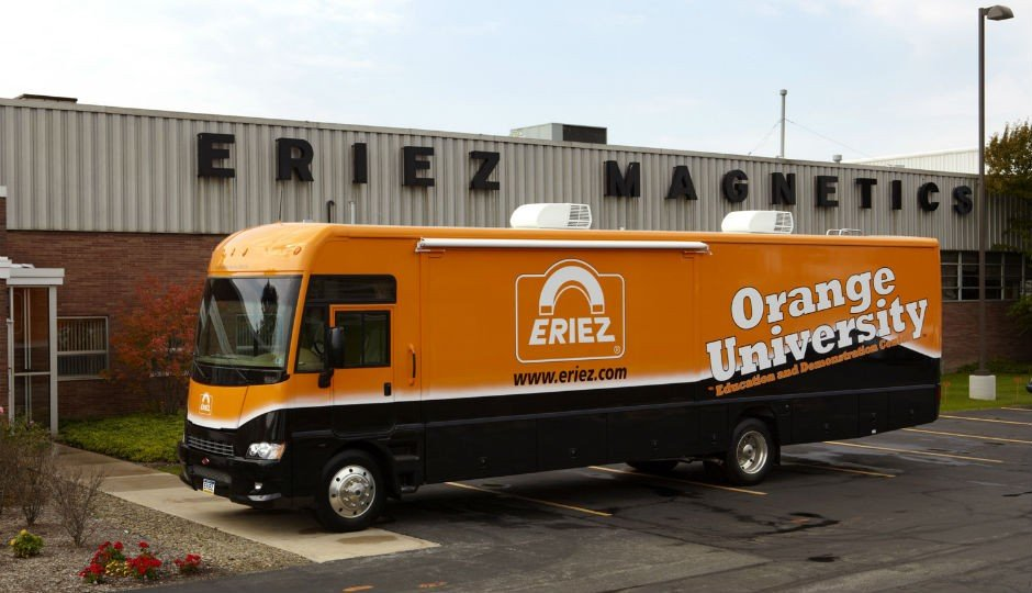 The Orange University Mobile Training and Education Center is a 38-foot Winnebago