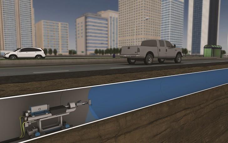 Urban PipeArmor installation. (Image courtesy of Quest Inspar.)
