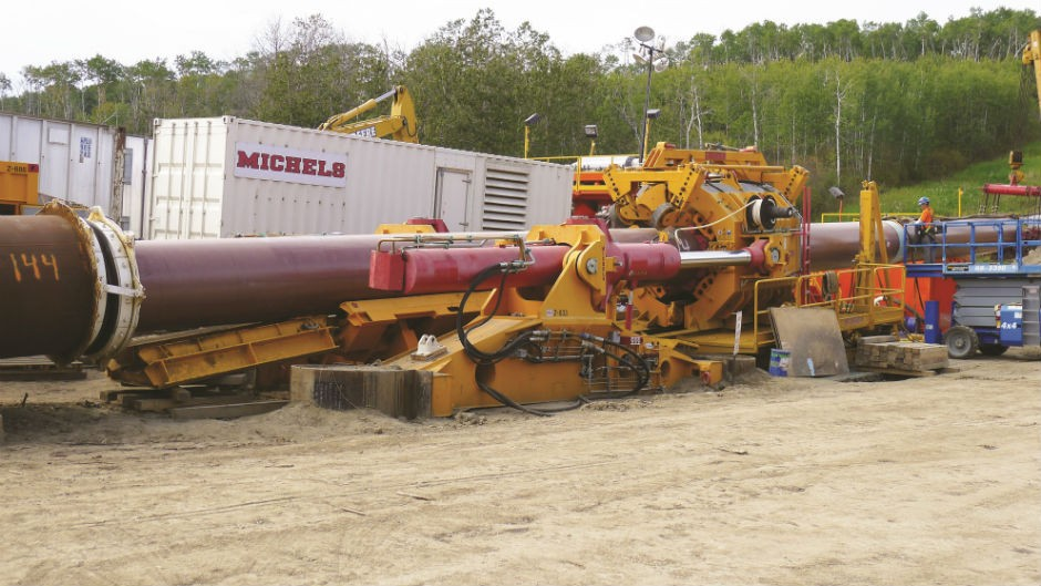 Direct Pipe technology is a single-pass installation that utilizes microtunnelling and a thrusting unit to directly install a prefabricated product pipe into the excavated borehole simultaneously.