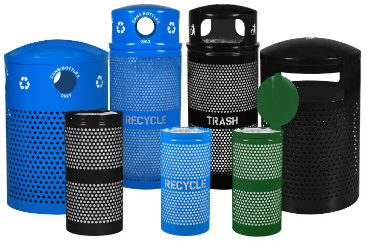Landscape Series Perforated Outdoor Receptacles