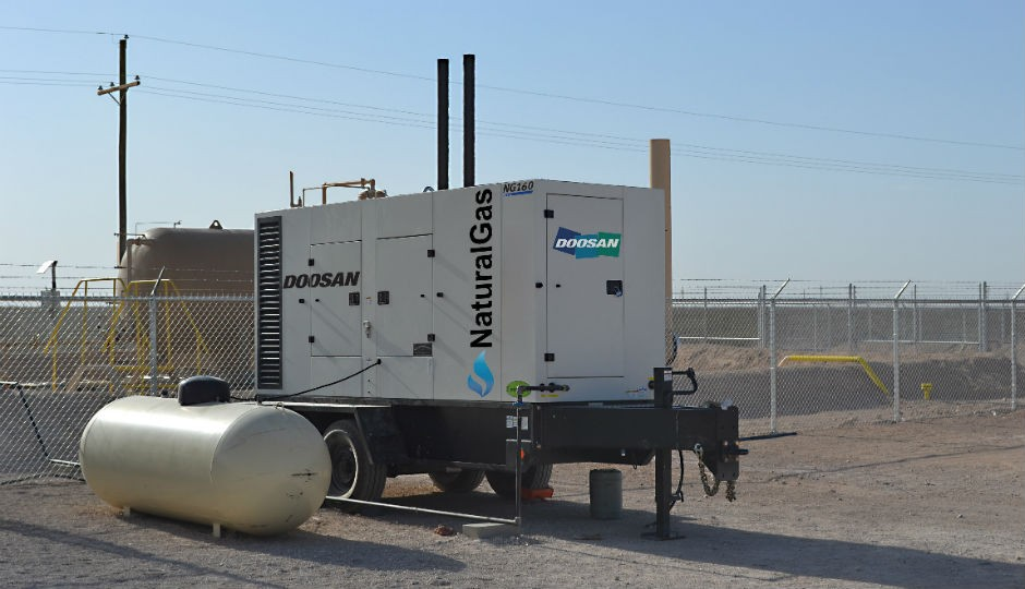The new NG160, natural gas-powered generator.