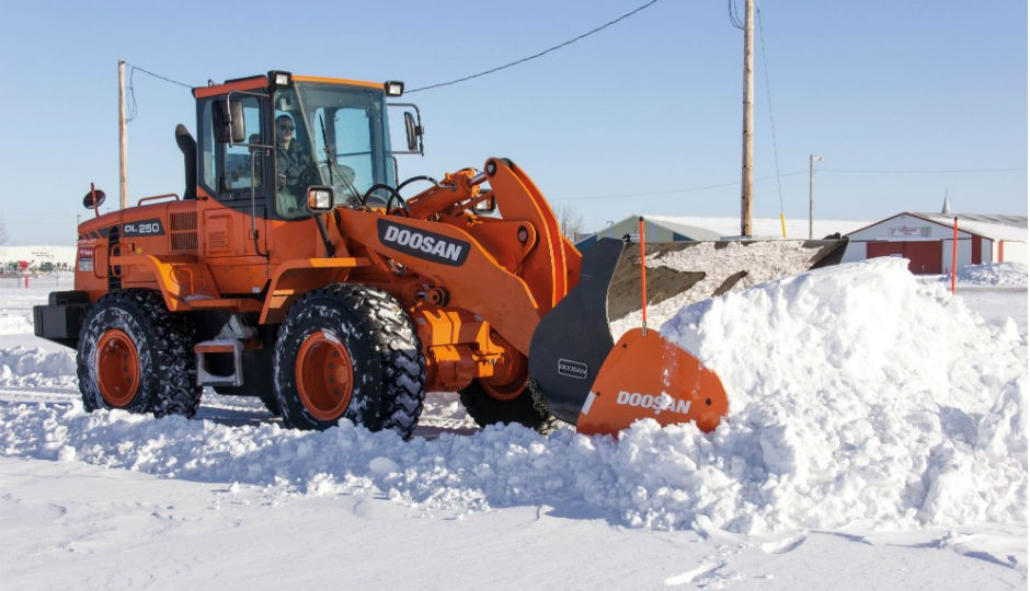 Doosan Launches Wheel Loader Snow Pusher Attachments