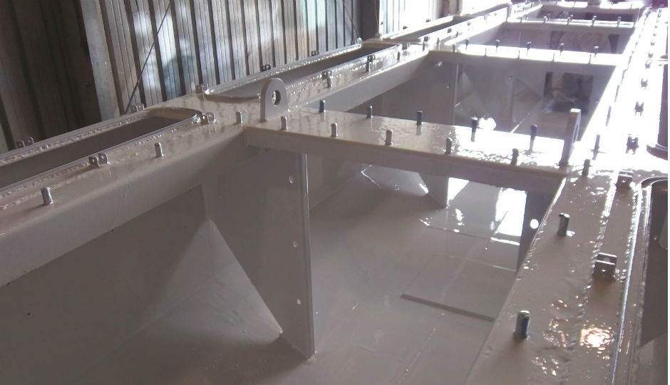 Nova-Plate 325 provides a heat- and pressure-resistant inner coating to products as diverse as mud tanks.