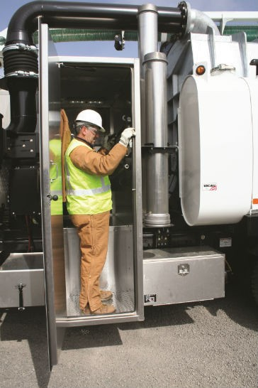 Gradall - Vacall Hydro Excavators, Now Feature Step-in Compartment Hydro Excavators