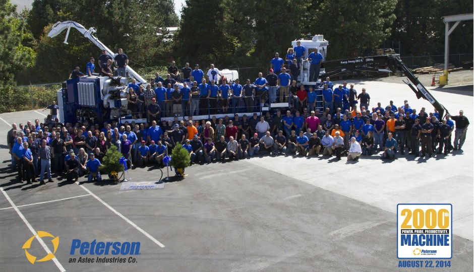 Peterson Pacific Delivers 2,000th Machine
