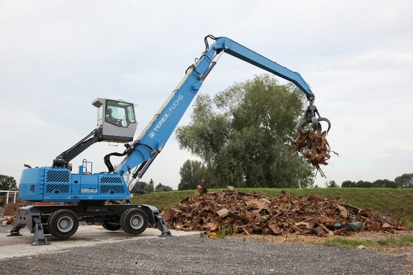 New Terex Fuchs material handler ECO MODE provides up to 36 percent fuel savings