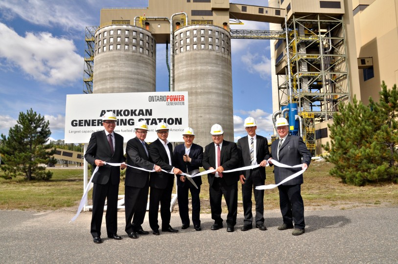 As of September 11, the Atikokan Generating Station in Ontario is complete and generating electricity from biomass