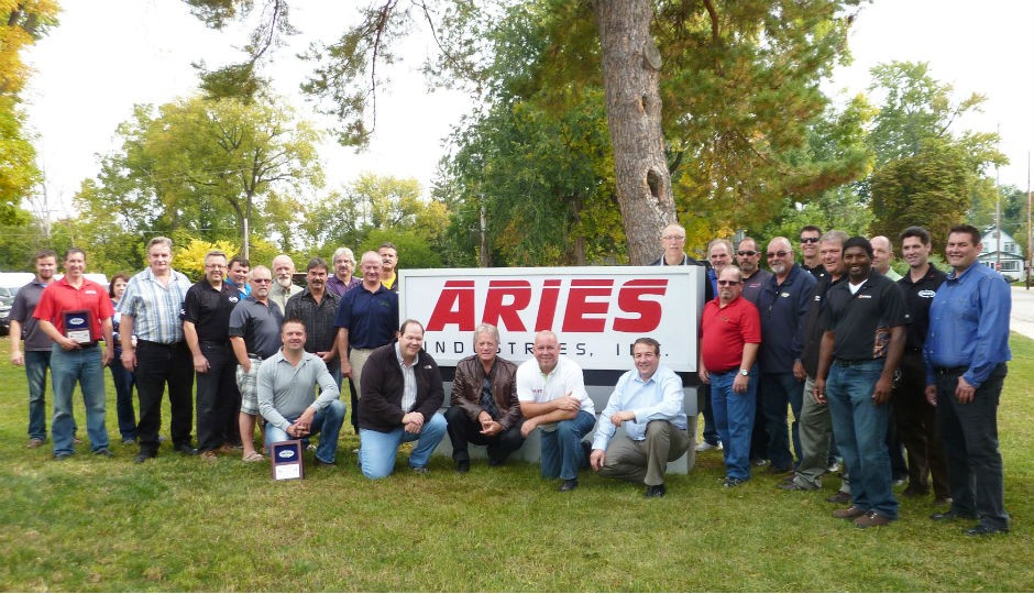 Attendees of the MEOA Technology Tour at Aries Industries in Waukesha , WI