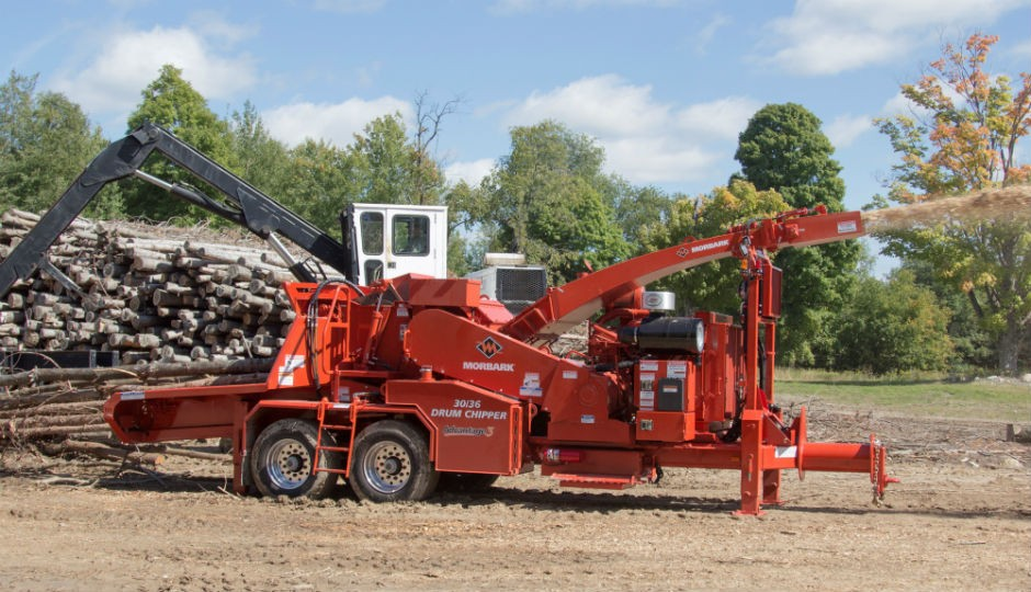 Morbark Introduces Redesigned 30/36 Whole Tree Drum Chipper