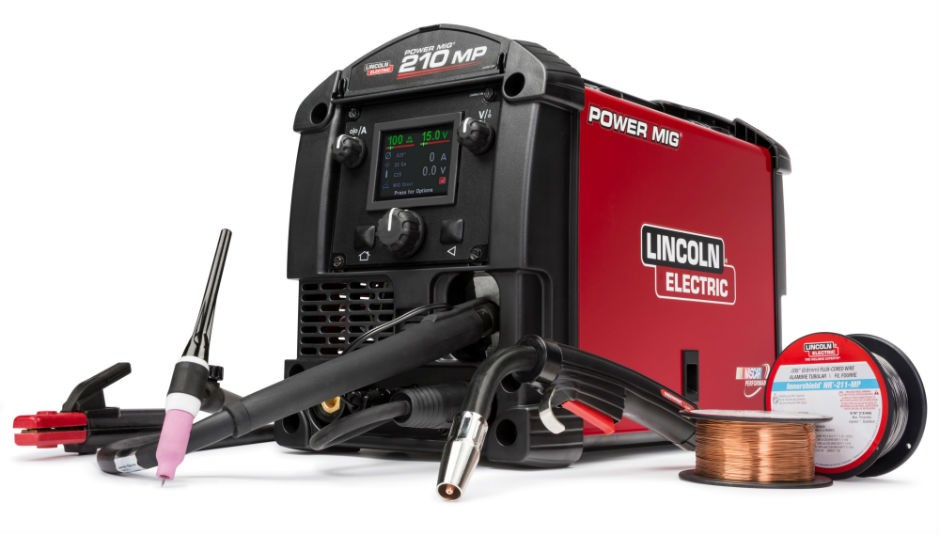 game changed \u2013 lincoln electric introduces the power mig 210 mpthe power mig 210 mp is the ideal mig machine for the welding novice, with