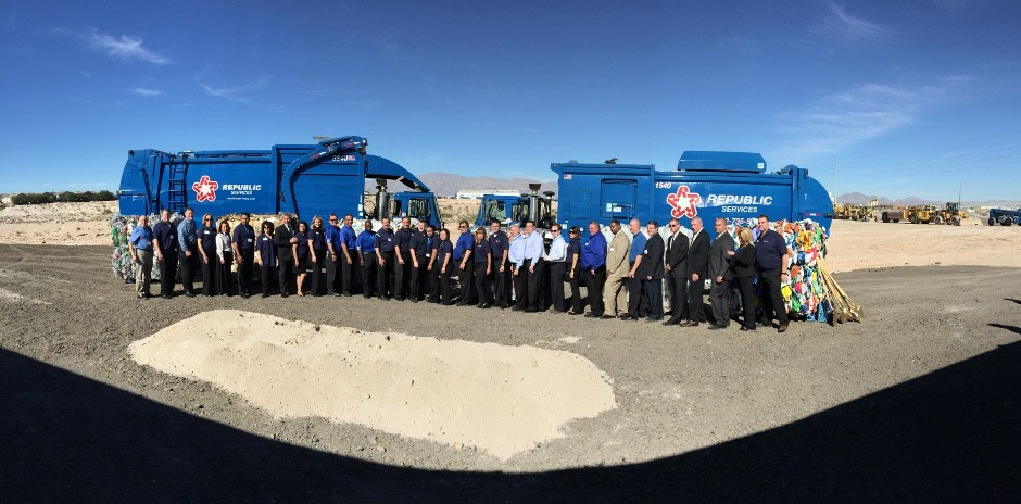 Republic Silver State Disposal groundbreaking ceremony, in Las Vegas at the site of a new recycling facility that when complete will double residential recycling capacity in southern Nevada.