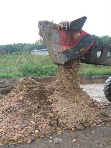 ALLU Screener Crusher - Organic Food Waste