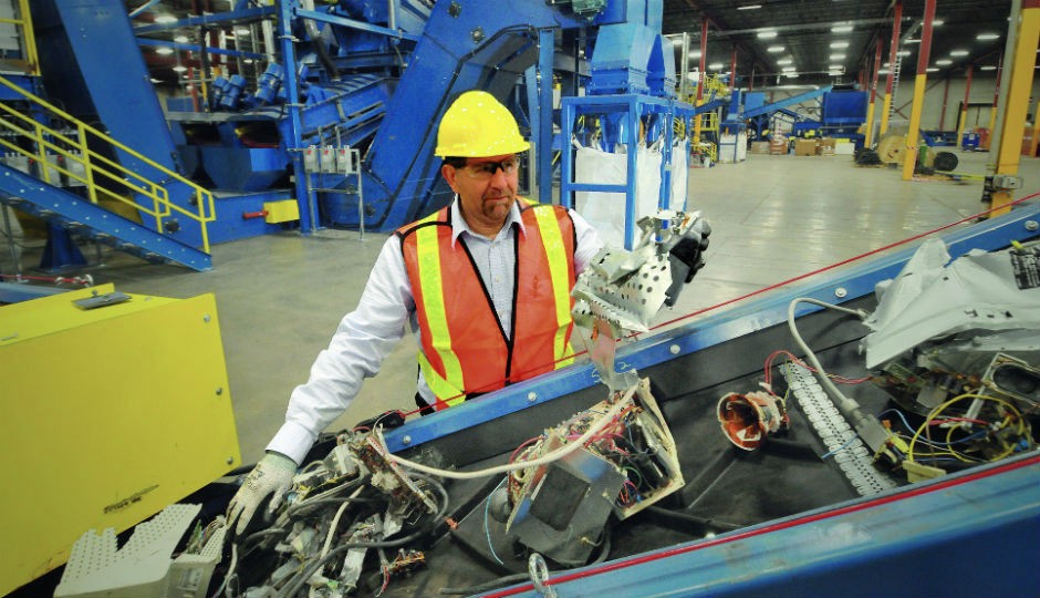 Sims Recycling Solutions has eight e-waste recycling facilities located around the U.S.