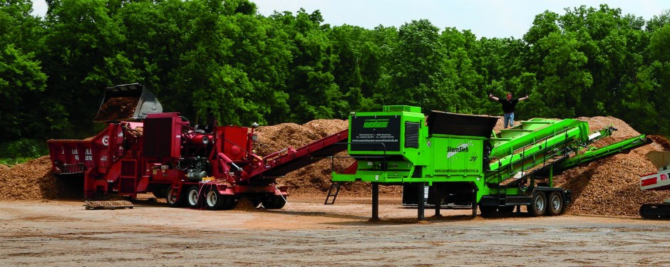 Lowe Products' Neuenhauser 2F star screen is required to keep pace with their 1,100-hp Morbark grinders.