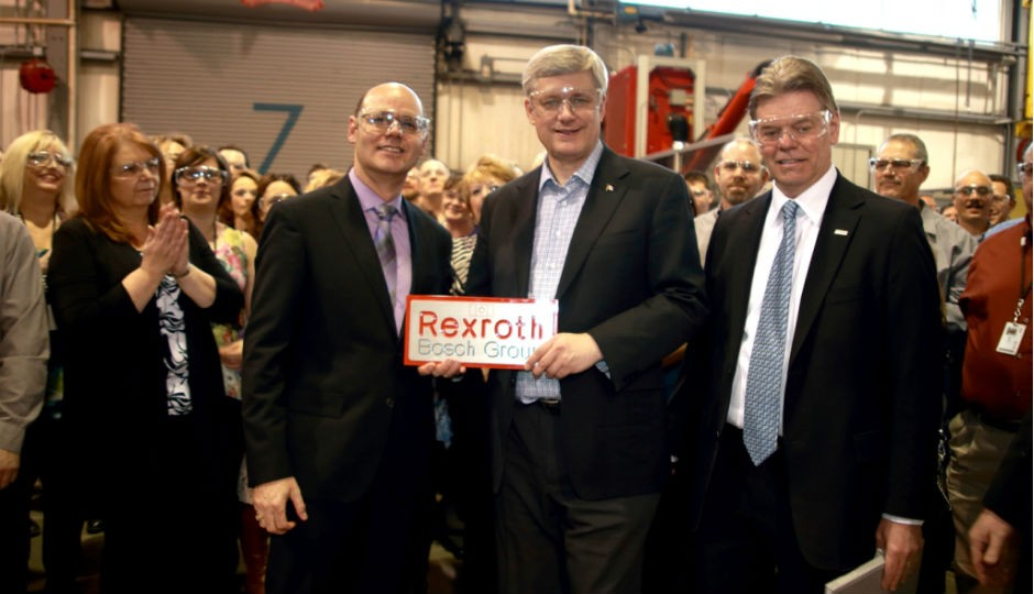 The Honourable Prime Minister Stephen Harper visits Bosch Rexroth