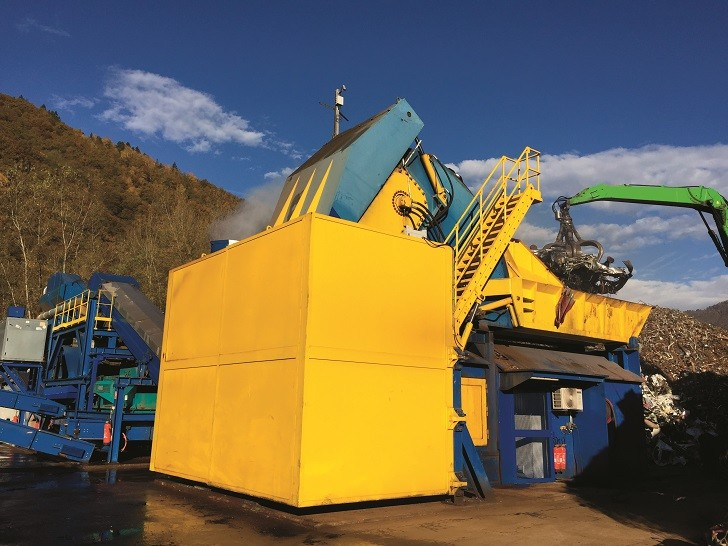 EcoShred Advanced  in operation at a site in France