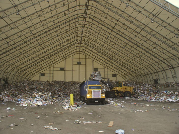 Customized Fabric Buildings Designed For Recycling and Waste Management
