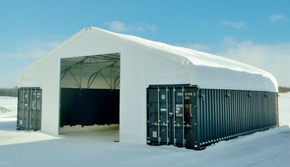 40'x40' Container Line Building Series – Tara, Ontario, Canada