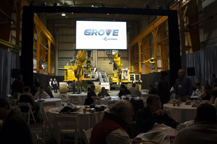 Grove Unveils GHC Telescoping Crawler Cranes in Dramatic Fashion
