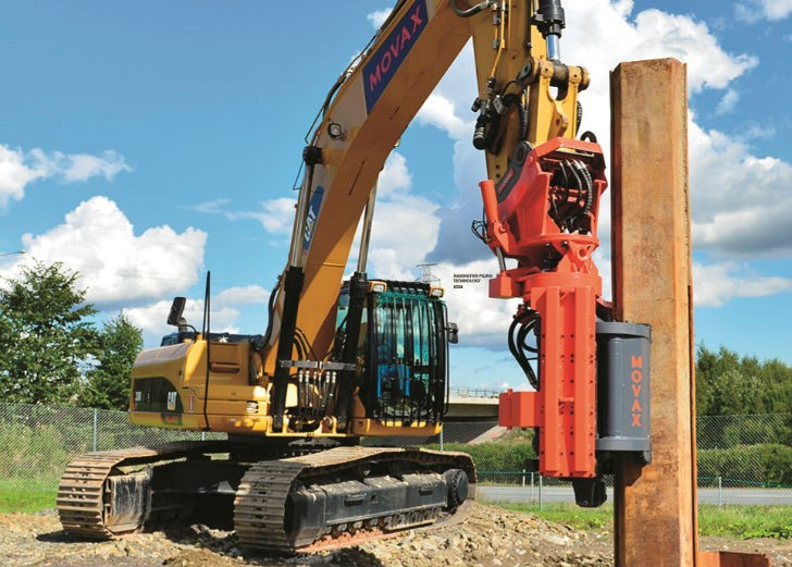 Vibratory Pile Drivers Eliminate Need for Cranes, Loaders