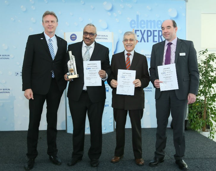 "Award for the ""Makkah Haram Sewer Line"" project on March 24 in Berlin"