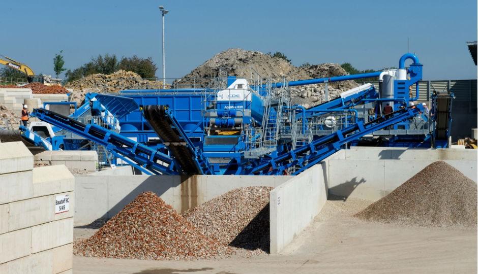 C&D waste recycling plant at Feess Erdbau